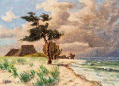 Wilhelm Facklam (1893 Udahl - 1972 Winkelhaid b. Nürnberg)Aufziehendes Gewitter an der Ostsee,