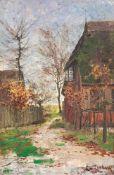 Elisabeth von Eicken (1862 Mülheim/Ruhr - 1940 Michendorf) Der Weg zum alten Gehöft. Öl auf