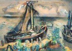 Paul Kuhfuss (1883 - Berlin - 1960) Kurenkähne. Tempera. 1939. 500 x 690 mm. U. l. signiert,