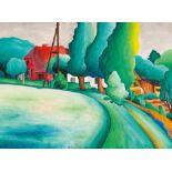 Wasja Götze (1941 Altmügeln bei Oschatz, lebt in Halle/Saale)Nördliche Landschaft II - Fulge Nr. 4