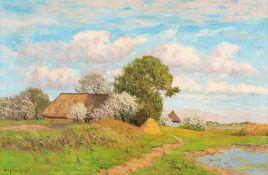 Paul Müller-Kaempff (1861 Oldenburg - 1941 Berlin)Althagen im Frühling.Öl auf Leinwand. Um 1915.