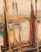 Alfred Heinsohn (1875 - Hamburg - 1927)Seglerhafen.Öl auf Leinwand. o. J. 420 x 335 mm. U. r.