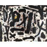 Bernd Hahn (1954 Neustadt/Sachsen - 2011 Burgstädtel)Zeichen.Mischtechnik. 1984. 490 x 630 mm. U.