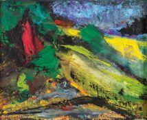 Friedrich Wilhelm Fretwurst (1936 Althagen, lebt in Dändorf)Landschaft am Bodden, 2004.Öl auf