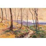 Elisabeth von Eicken (1862 Mülheim/Ruhr - 1940 Michendorf) Darßwald im Frühling. Aquarell, Gouache.
