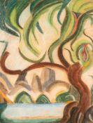 William Wauer (1866 Oberwiesenthal - 1962 Berlin)Morgenlicht.Pastellkreide. 1925. 650 x 500 mm. U.