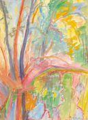 Dora Koch-Stetter (1881 Bayreuth - 1968 Althagen-Ahrenshoop)Paradiesgarten.Aquarell, Gouache. 1913.