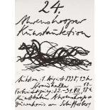 Max Uhlig (1937 Dresden, lebt in Dresden)Plakat zur 24. Ahrenhooper Kunstauktion, 1998. Lithografie