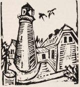 Ernst Ludwig Kirchner (1880 Aschaffenburg - 1938 Frauenkirch-Wildboden bei Davos)Leuchtturm auf