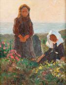 Elisabeth Büchsel (1867 - Stralsund - 1957)Hiddenseer Mädchen.Öl auf Malplatte. Um 1910. 445 x 355