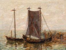 Kurt Haase-Jastrow (1885 Jastrow/Westpr. - 1958 Berlin)Kurenkähne.Öl auf Hartfaser. Um 1910. 380 x