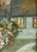 Carl Hinrichs (1903 Nürnberg - 1990 Schwerin)Bauernhaus.Öl auf Hartfaser. 1988. 230 x 180 mm. U.