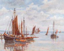 Clara Arnheim (1865 Berlin - 1942 Theresienstadt)Alter Fischerhafen Vitte.Öl auf Leinwand,