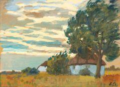 Elisabeth Büchsel (1867 - Stralsund - 1957)Das Haus der Malerin (Hexenhaus, Hiddensee).Gouache. Um