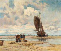 Hans von Bartels (1856 Hamburg - 1913 München)Nach dem Fang.Öl auf Leinwand. 1890. 500 x 600 mm.