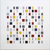Laszlo Ottogeb. 1966Elements in Vertical2017Acryl auf Leinwand, handsigniert rückseitig90 x 90 cm