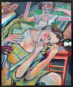 Stangl Heinz1942-2008Brot und Ei1999Öl auf Leinwand60 x 73 cm