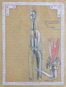 Sengl Petergeb. 1945Roter Hundekopfschmuck2001Mischtechnik auf Papier30 x 23 cm