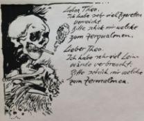 """Brus Güntergeb. 19384 letzte Briefe1984/85Lithographie, 5 Blätter aus der Mappe """"Vincent"""" - Signiert"""