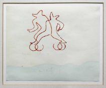 """Oberhuber Oswaldgeb. 1931Ohne Titel1986Druck auf Papier, aus: """"Aug um Aug"""", Ed. 5024,5 x 30 cm"""