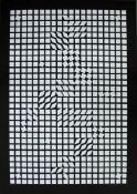 Vasarely Victor1906-1997Ohne Titel1960erSiebdruck, signiert vorne, Ed. 90100 x 70 cm