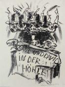 Fronius Hans1903-2001Saul und David in der HöhleLithographie, handsigniert 54 x 40 cm