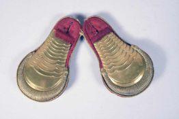 Paire d'épaulettes d'un cadet Bavarois eingetum d'artillerie vers 1850 : jaune à écailles, tissus