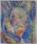 """Monogrammist (1. H. 20. Jhd.) - Aquarell auf Papier, """"Baseler Fassenacht""""unten rechts"""