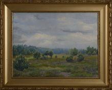 """Berthold de Bruycker (1888 - 1971) - Öl auf Leinwand, """"Ein Regentag im Mai"""", Asendorf, 1944unten"""