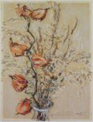 """Philipp Karl Seitz (1901 - 1982) - Mischtechnik auf Papier, """"Stilleben mit Gräsern und"""