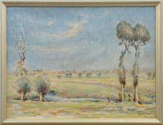 """Richard Eggers (1905 - 1995) - Öl auf Leinwand, """"Impressionistische Marschlandschaft mit"""