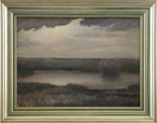 """Heinz Dodenhoff (1889 - 1981) - Öl auf Malkarton, """"Im Worpsweder Moor""""unten rechts signiert, guter"""