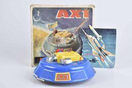 PIKO MECHANIK AX1, 70er Jahre, Kunststoff, blau und gelb, D 22 cm, BA, mit Antenne, Z 1-2, Okt.