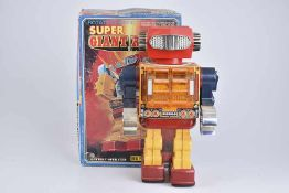 S. HORIKAWA Super Giant Robot, 60er Jahre, Made in Japan, Blech/ Kunststoff, orange/ lithographiert,