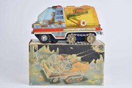 EGE Comandos del Espacio, 60er Jahre, Made in Spain, Blech/ Kunstsoff, lithographiert, L 31 cm,