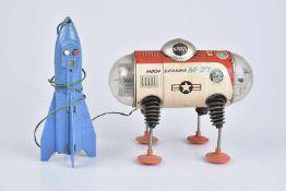 YONEZAWA Moon Explorer M-27, Made in Japan, 60er Jahre, Blech/ Kunststoff, lithographiert, L 20