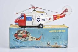 TOMIYAMA Astro-Copter, 60er Jahre, Made in Japan, Blech, lithographiert, L 36 cm, BA,
