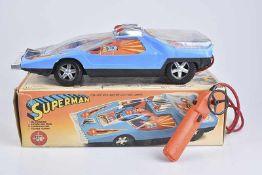REEL Superman Modellauto, Kunststoff, lithographiert, L 43 cm, mit Fernsteuerung, leichte