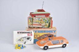 PIKO SPIELWAREN, 2 Raumfahrzeuge, Kunststoff, orange, L 30 cm, BA, Batteriefach leicht korrodiert, Z