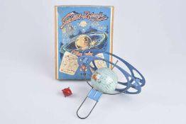 GESCHA Satellit Rotaryo, 60er Jahre, Made in Western Germany, Blech, blau/ lithographiert, leichte