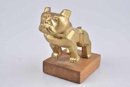 Emblem/ Kühlerfigur/ Car Mascot Mack LKW Bulldog, Mops, Design Patent 87931, 14MF45, vegoldet,
