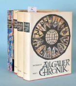 """Weitnauer, Alfred """"Allgäuer Chronik"""", 4 BändeTextbände 1-3, Bilder u. Dokumente, zahlr., teilw."""
