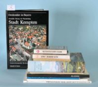 Bücher zum Thema Allgäu und Kempten, 11 Stückversch. Autoren u. Vlge.