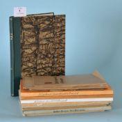 Bücher und Hefte zum Thema Kempten und Allgäu, 12 Stückversch. Autoren u. Vlge., ca. 1925-73