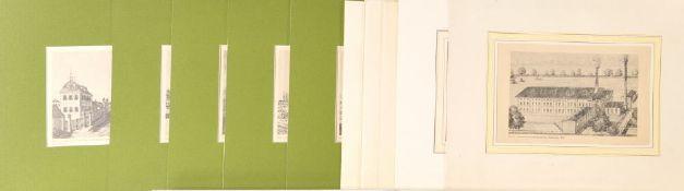 Göggingen bei Augsburg, 10 Ansichten10 Offsetdrucke, versch. Größen, 20. Jh., P