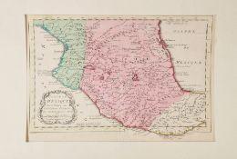 """Landkarte """"Carte du Mexique (Mexiko)""""Kupferstich, handcolor., 21 x 29 cm, von M. Bellin, 18. Jh., P"""