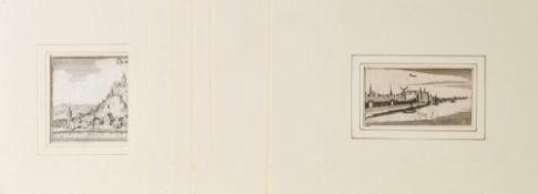 Ortsansichten, 8 Stück8 Kupferstiche, versch. Größen, meist süddeutsche Städte, von Merian, um 1700,