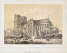 Paris, Notre-DameLithographie, 15,5 x 23 cm, von Rivière, 19. Jh.