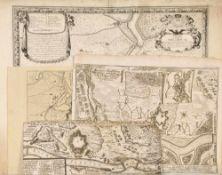 """Landkarten, 4 Stück """"Philipsburg""""4 Kupferstiche, versch. Größen, 17./18. Jh."""