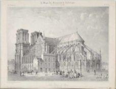 Paris, Notre-DameLithographie, 21 x 29 cm, von Benoist, 19. Jh.